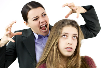 Woman furious with teenage daughter
